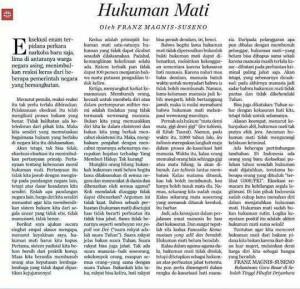 Artikel Franz Magnis di Harian Kompas 13/3/15